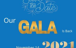Image with text: Our gala is back - November 14, 2021 (Covid restrictions permitting)